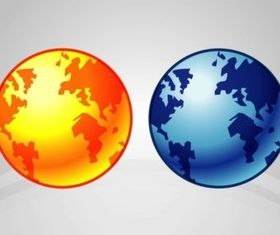 Earth Icons design vectors