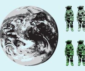 Astronauts vectors material