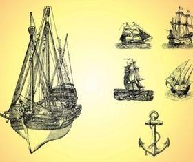 Marine Sketches vector