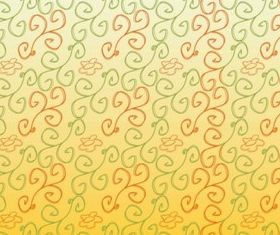 Hand Drawn Flower Scrolls Pattern vector