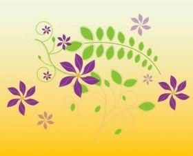 Cute Flowers Illustration vectors graphics