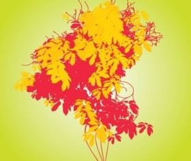 Wild Flowers Bouquet vector graphic