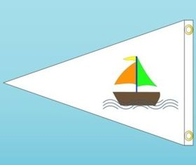 Boat Flag vector