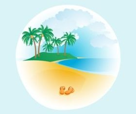 Exotic Beach vector