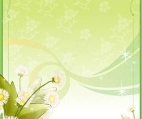 Spring Flower Frame background shiny vector