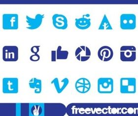 Social Medi Icons Graphics vector set