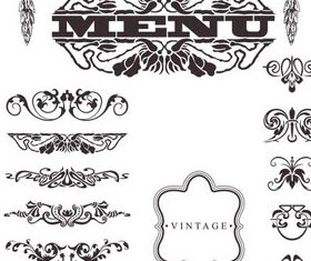 Menu Elements 10 vector