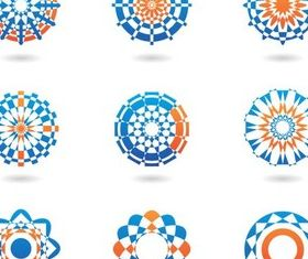 Color Ornamental Symbols vector