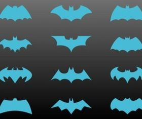 Batman Logos Set vector graphic
