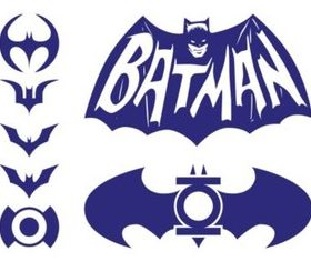 Batman Logos Pack set vector