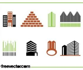 Buildings Icon Set set vector