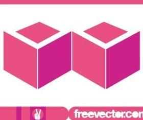 Pink Cubes Logo vector