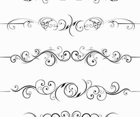 Stylish Ornamental Borders 5 design vector