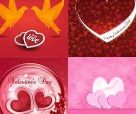 Valentines Backgrounds Set 5 vector