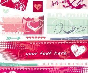 Valentines Banners design vectors