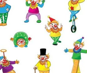 Funny Clowns vector