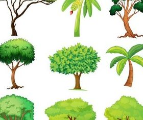 Trees graphic vector