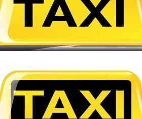 Taxi Symbols vector set