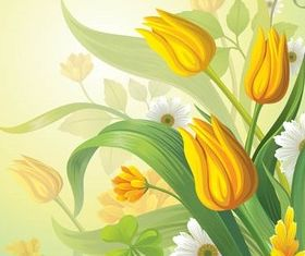 Shiny Floral Backgrounds 4 vector material