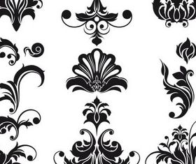 Ornate Floral Elements (Set 3) set vector