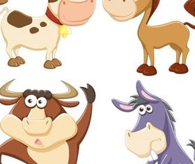 Funny Cartoon design vectors