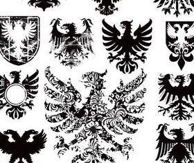 Heraldic Eagle Signs vector graphics