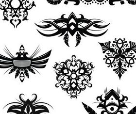 Stylish Tatoo 7 vector set