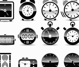 Clocks graphic vector