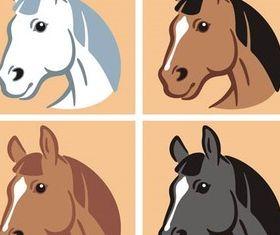 Horse Symbols free vector