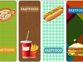Fast Food Banners art set vector