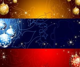 Christmas Banners 3 vector