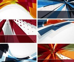 Abstract Banners Set 5 design vector