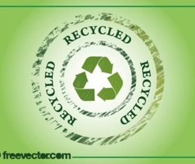 Recycling Badge vector