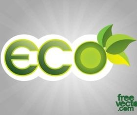 Eco Sticker vector