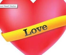 Love Heart set vector