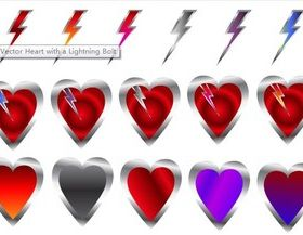 Heart with Lightning Illustration vector