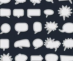 Dialogue Bubbles Illustration vector
