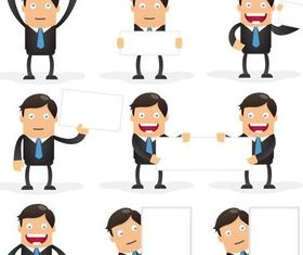 Cartoon Businessman design vectors