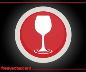 Wine Glass Logo vector