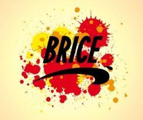 Brice Logo And Splatter vector