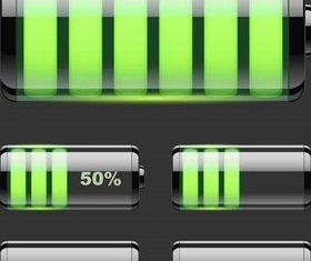 Shiny Battery Elements Illustration vector