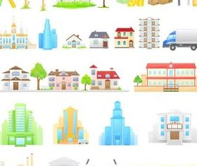Houses graphic shiny vector