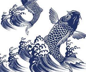 Koi Fish graphic vectors