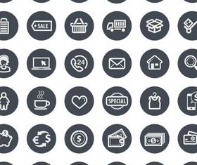 Business Grey Icons vector
