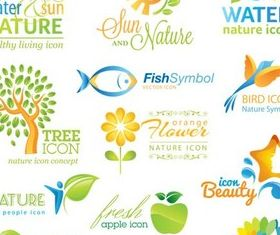 Nature Color Logo design vector