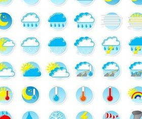 Colorful Weather Symbols vector