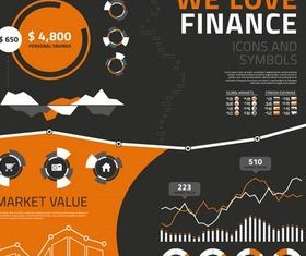 Finance Icons design vector