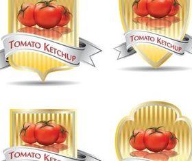 Tomato Color Labels vector