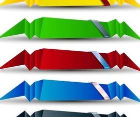 Shiny Origami Elements vector