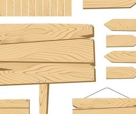 Wooden Elements shiny vector